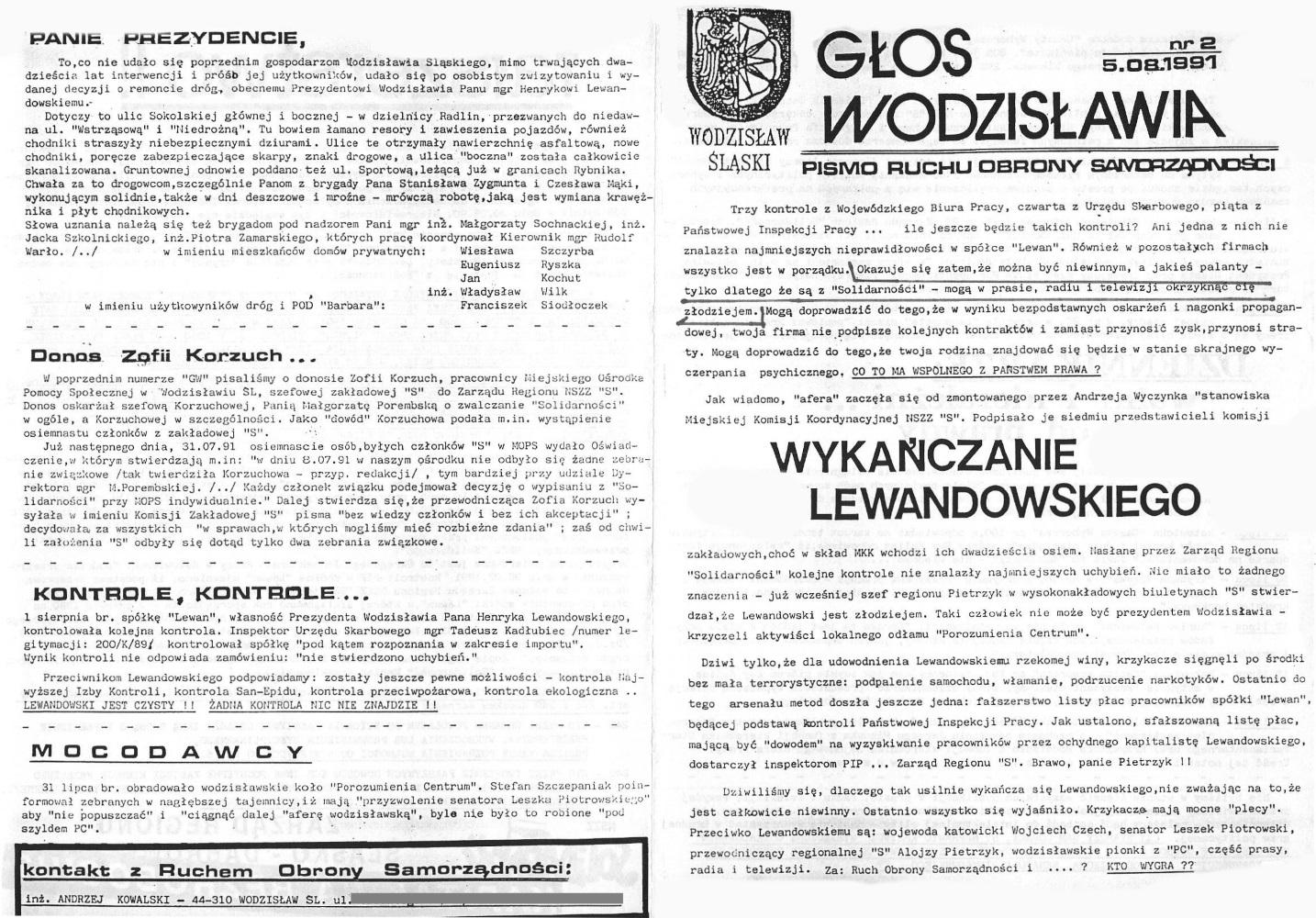 1991-07-30_Glos_Wodzislawia_3 Głos Wodzisławia
